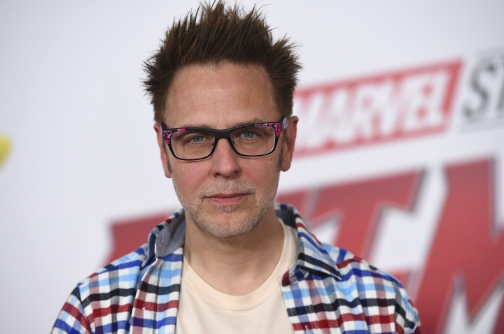 "FILE - This June 25, 2018 file photo shows James Gunn at the premiere of ""Ant-Man and the Wasp"" in Los Angeles. Months after being fired over old tweets, James Gunn has been rehired as director of ""Guardians of the Galaxy Vol. 3."" Representatives for the Walt Disney Co. and for Gunn on Friday confirmed that Gunn has been reinstated as writer-director of the franchise he has guided from the start. (Photo by Jordan Strauss/Invision/AP, File)"