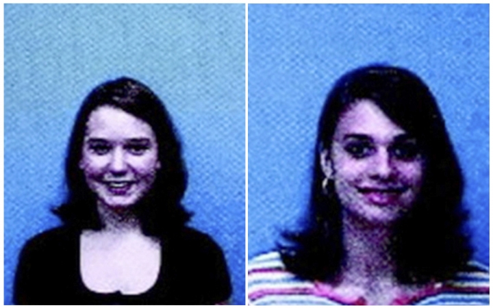 This combination of images from a 1999 flyer released by the Ozark (Ala.) Police Department, shows J.B. Beasley, left, and Tracie Hawlett, who were both murdered in July 1999. Alabama authorities say a DNA match found through a genealogy website has led to an arrest in the killings of the two teen girls nearly 20 years ago. Coley McCraney, of Dothan, was arrested Saturday, March 16, 2019, on rape and capital murder charges in the deaths of Hawlett and Beasley, according to Dale County jail records. (Ozark Police Department via AP)