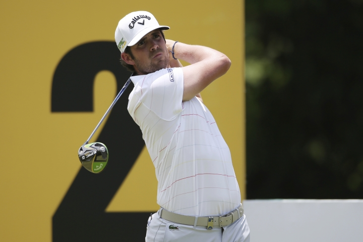 Nacho Elvira of Spain tees off at the 2nd hole at the Malaysia Golf Championship 2nd Round in Kuala Lumpur, Malaysia, Friday, March 22, 2019. (AP Photo/Vincent Phoon)