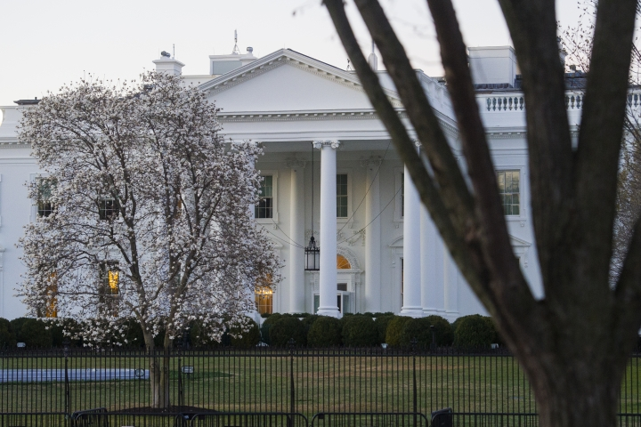 The White House is seen in Washington, Sunday, March 24, 2019. Special counsel Robert Mueller closed his long and contentious Russia investigation with no new charges, ending the probe that has cast a dark shadow over Donald Trump's presidency. (AP Photo/Cliff Owen)