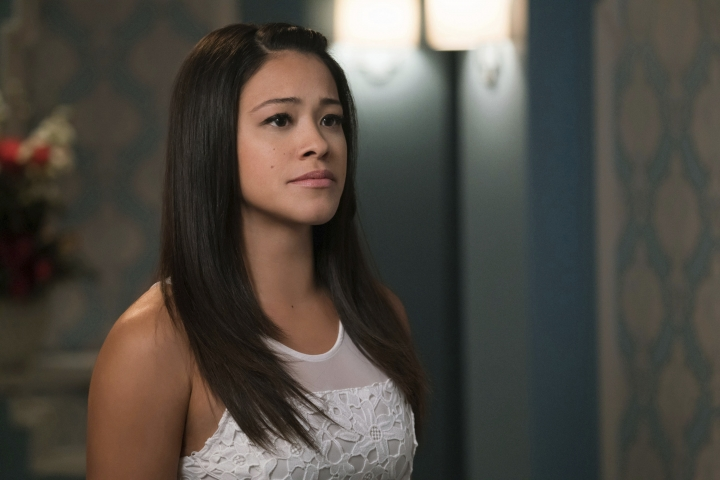 """In this image released by The CW, Gina Rodriguez appears in a scene from, """"Jane The Virgin."""" Fans and Latino diversity advocates are lamenting the end of two well-known Latino-themed television shows, Netflix's """"One Day at a Time"""" and CW's """"Jane the Virgin."""" But other shows featuring U.S. Latino characters are trying to step in and capture the attention of fragmented audiences looking for diversity. (Michael Desmond/The CW via AP)"""
