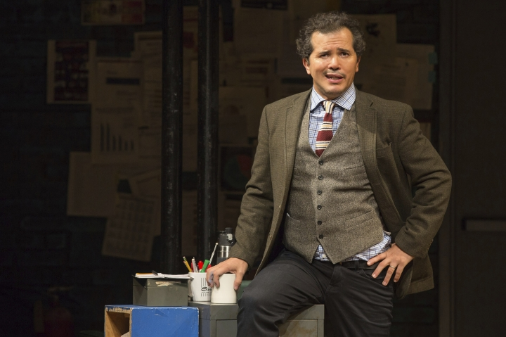 "This image released by Polk & Co. shows John Leguizamo during a performance of his one-man show ""Latin History for Morons,"" which will kick off a 12-state U.S. tour with a two-night stand at the Apollo Theater in New York starting June 20. (Matthew Murphy/Polk & Co. via AP)"