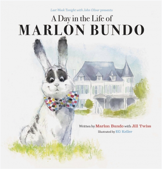 "This cover image released by Chronicle Books shows ""Last Week Tonight With John Oliver Presents A Day in the Life of Marlon Bundo,"" written by Marlon Bundo with Jill Twiss and illustrated by EG Keller. The book was among the books most objected to in 2018 at the country's public libraries. The best-selling parody ranked No. 2 on the list of ""challenged"" books compiled by the American Library Association, with some complaining about its gay-themed content and political viewpoint. (Chronicle Books via AP)"