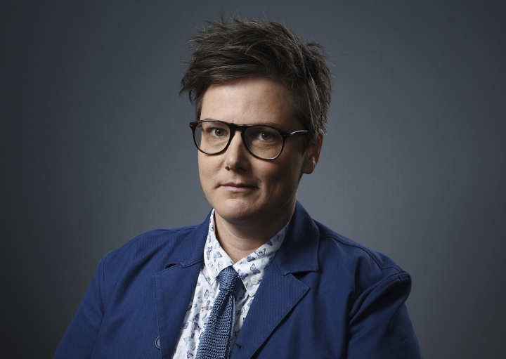 "FILE - In this Dec. 10, 2018 file photo, Australian comedian Hannah Gadsby poses for a portrait in Los Angeles. Gadsby is following last year's breakout Netflix stand-up special with a new U.S. tour that has stops in San Francisco and ends in New York this summer. The Australian comedian's show ""Douglas"" had its world premiere in Melbourne in March and the first stop in the U.S. is April 30 in San Francisco and she will be finishing off-Broadway at the Daryl Roth Theater from July 23-Aug. 17. (Photo by Chris Pizzello/Invision/AP, File)"