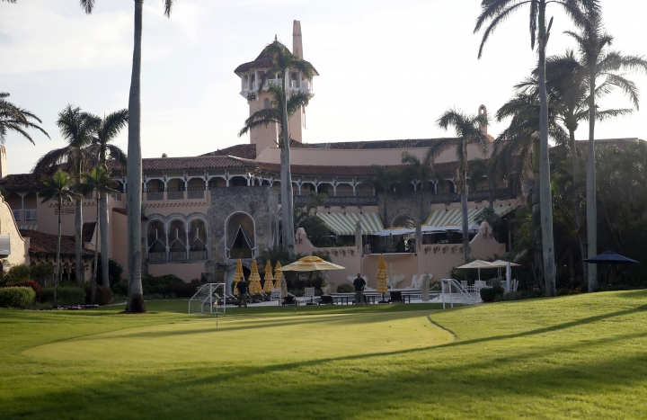FILE - In this Nov. 24, 2017, file photo, President Donald Trump's Mar-a-Lago resort is seen in Palm Beach, Fla. China says it has been informed of the arrest of a Chinese woman at President Donald Trump's Mar-a-Lago club over the weekend and is providing her with consular services. (AP Photo/Alex Brandon, File)