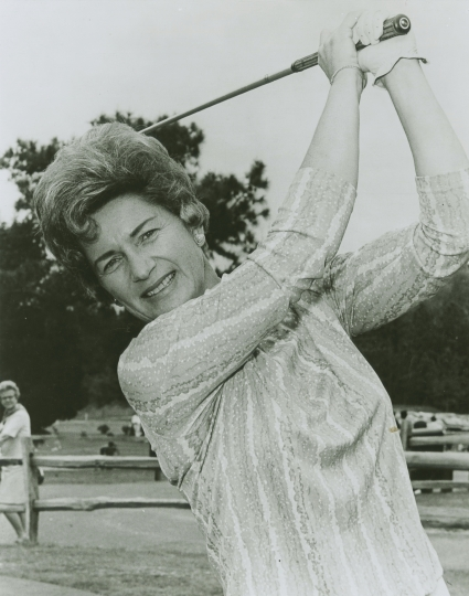 This undated photo provided by the Ladies Professional Golf Association shows Marilynn Smith, one of the founders of the organization. Smith died Tuesday, April 9, 2019. She was 89. (LPGA via AP)