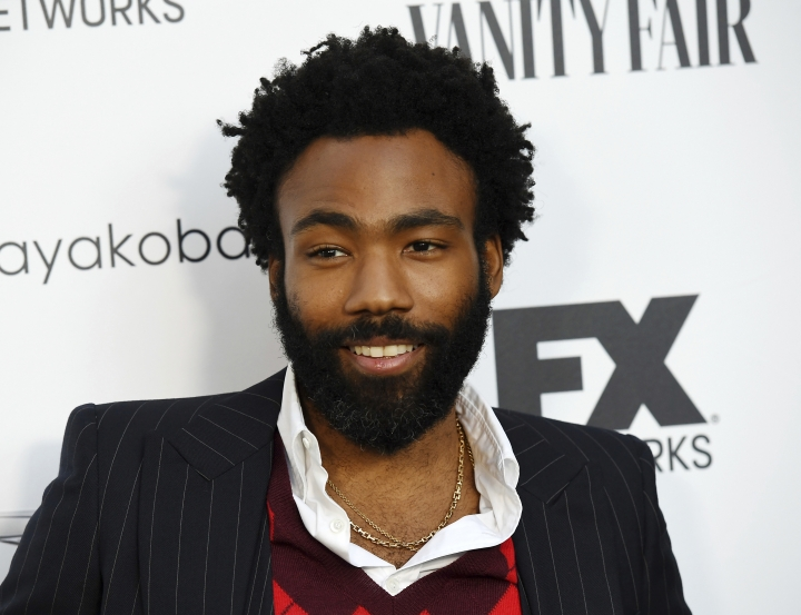 "FILE - In this Sept. 16, 2018 file photo, Donald Glover, creator and star of the FX series ""Atlanta,"" and a musician who performs under the name Childish Gambino, poses at a private cocktail party to celebrate the FX network's Emmy nominations in Los Angeles. Glover and Rihanna's secretive new film ""Guava Island"" is coming to Amazon Prime Video this weekend. Glover tweeted Wednesday, April 10, 2019, that it'd be available to stream for free starting Saturday at 12:01 am. (Photo by Chris Pizzello/Invision/AP, File)"