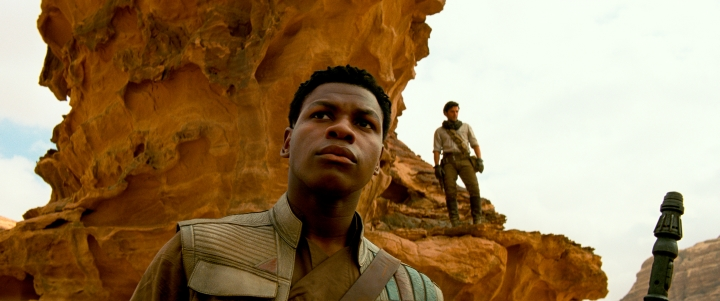 "This image released by Lucasfilm Ltd. shows John Boyega as Finn in a scene from ""Star Wars: Episode IX."" (Lucasfilm Ltd. via AP)"