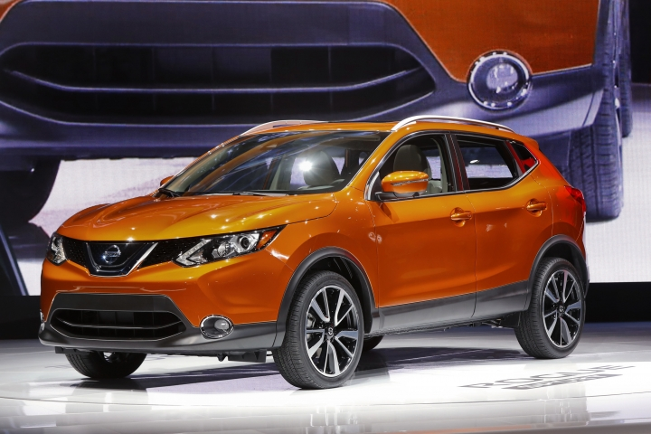 "FILE - In this Jan. 9, 2017 file photo, the 2017 Nissan Rogue Sport is on display at the North American International Auto Show in Detroit. The nonprofit Center for Auto Safety filed a petition, Friday, April 12, 2019 with the National Highway Traffic Safety Administration to investigate automatic emergency braking on some Nissan Rogue SUVs, alleging the safety feature makes the vehicles brake when there's no emergency. The group says about 675,000 Rogues from 2017 and 2018 should be recalled. Nissan says it has taken ""field actions"" to tell customers of a software update that improves performance of the automated braking system. The government says it will evaluate the petition. (AP Photo/Paul Sancya, File)"