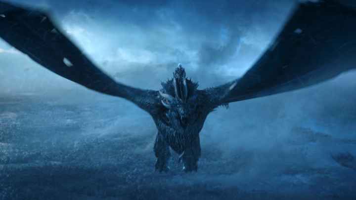 """This image released by HBO shows Vladimir Furdik as The Night King on the season finale of """"Game of Thrones."""" The final season premieres on Sunday. (HBO via AP)"""
