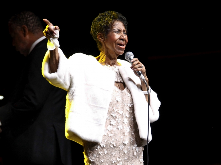 FILE - In this Nov. 7, 2017 file photo, Aretha Franklin attends the Elton John AIDS Foundation's 25th Anniversary Gala in New York. Franklin is still getting R.E.S.P.E.C.T. after death: The Queen of Soul received the Pulitzer Prize Special Citation honor Monday, April 15, 2019, becoming the first individual woman to earn a special citation prize since the honor was first awarded in 1930. Franklin, 76, died at her home in Detroit on Aug. 16, 2018. (Photo by Andy Kropa/Invision/AP, File)