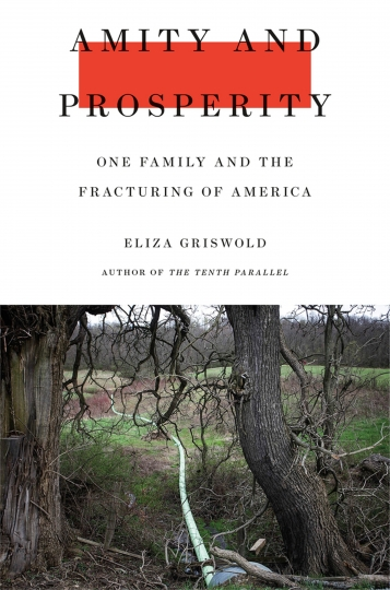 """This cover image released by Farrar, Straus and Giroux shows """"Amity and Prosperity: One Family and the Fracturing of America"""" by Eliza Griswold, winner of the Pulitzer Prize for Non-Fiction. (Farrar, Straus and Giroux via AP)"""