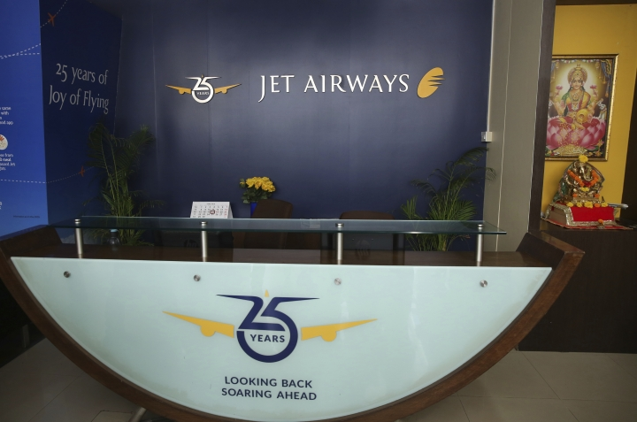 A Jet airways reception desk is seen deserted at the company's headquarters in Mumbai, India Thursday, April 18, 2019. Jet Airways, once India's largest airline, announced on Wednesday that it is suspending all operations after failing to raise enough money to run its services. (AP Photo/Rafiq Maqbool)