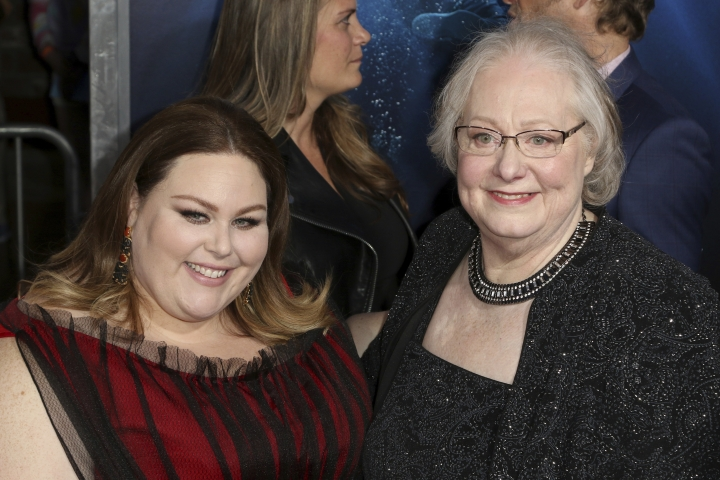 "FILE - In this Thursday, April 11, 2019 file photo, Chrissy Metz, left, and Joyce Smith arrive at the LA Premiere of ""Breakthrough"" at the Regency Village Theatre in Los Angeles. While the actress scored a few minor movie roles before finding fame on TV's ""This is Us,"" ""Breakthrough,"" which opened in theaters Wednesday, April 17, marks Metz's feature-starring debut. (Photo by Willy Sanjuan/Invision/AP, File)"