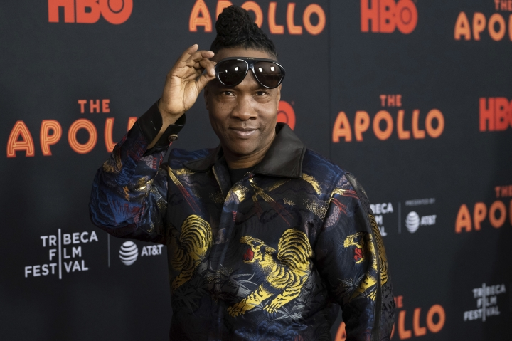 "Roger Ross Williams attends the screening for ""The Apollo"" during the 2019 Tribeca Film Festival at the Apollo Theater on Wednesday, April 24, 2019, in New York. (Photo by Charles Sykes/Invision/AP)"
