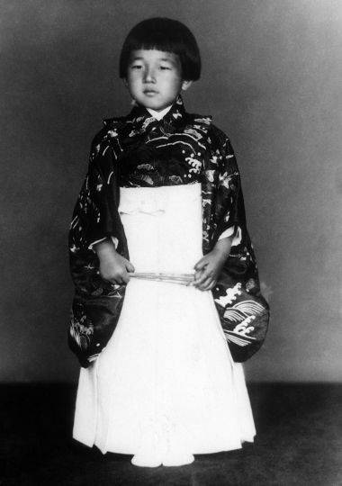 Crown Prince Akihito stands for a photograph on Dec. 23, 1938, during his fifth birthday. When he abdicates April 30, 2019, Akihito will become the first emperor in Japan's modern history to see his era end without ever having a war. (AP Photo)