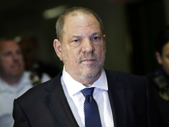 FILE - In this Oct. 11, 2018 file photo, Harvey Weinstein enters State Supreme Court in New York. An important pretrial hearing in Weinstein's sexual assault case could be play out in secret if a judge rules against news organizations fighting to keep the courtroom open. Both the prosecution and defense have asked that the hearing Friday, April 26, 2019, dealing with trial strategy and potential witnesses be held behind closed doors. (AP Photo/Mark Lennihan, File)