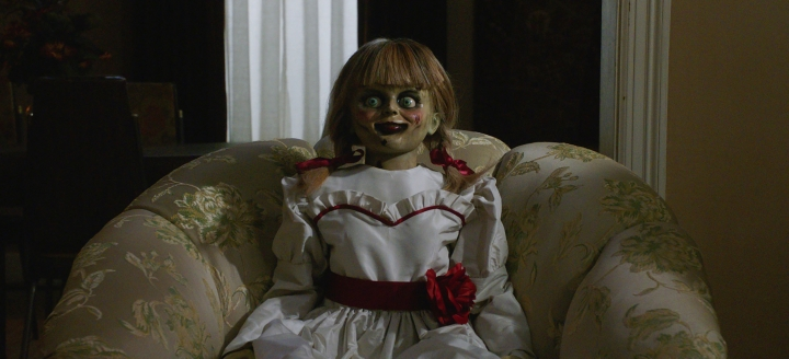 "This image released by Warner Bros. Pictures shows a scene from the horror film, ""Annabelle Comes Home."" (Warner Bros. Pictures via AP)"