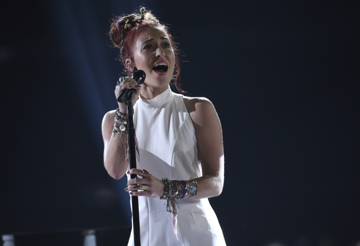 """Lauren Daigle performs """"You Say"""" at the Billboard Music Awards on Wednesday, May 1, 2019, at the MGM Grand Garden Arena in Las Vegas. (Photo by Chris Pizzello/Invision/AP)"""