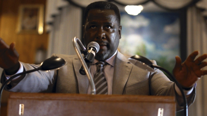 """This image released by the Tribeca Film Festival shows Wendell Pierce in a scene from """"Burning Cane."""" The film by filmmaker Phillip Youmans won the top award at the Tribeca Film Festival on Thursday. The film also took awards for best cinematography and best actor for Pierce. (Phillip Youmans/Tribeca Film Festival via AP)"""