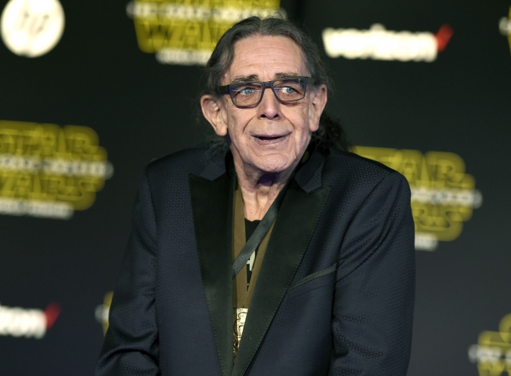 "RETRANSMISSION TO CORRECT DAY AND DATE OF DEATH - FILE - In this Dec. 14, 2015, file photo, Peter Mayhew arrives at the world premiere of ""Star Wars: The Force Awakens"" in Los Angeles. Mayhew, who played the rugged, beloved and furry Wookiee Chewbacca in the ""Star Wars"" films, has died. Mayhew died at his home in north Texas on Tuesday, April 30, 2019 according to a family statement. He was 74. No cause was given. (Photo by Jordan Strauss/Invision/AP, File)"