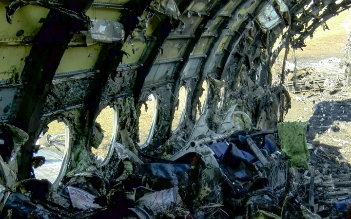 This photo taken from a video distributed by Russian Investigative Committee on Monday, May 6, 2019, the wreckage of Sukhoi SSJ100 aircraft of Aeroflot Airlines is seen in Sheremetyevo airport outside Moscow, Russia. At least 40 people died when an Aeroflot airliner burst into flames while making an emergency landing at Moscow's Sheremetyevo airport, officials said early Monday. (The Investigative Committee of the Russian Federation via AP, File)