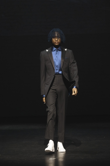 The Ozwald Boateng collection is modeled during a fashion show at Apollo Theater in New York, Sunday, May 5, 2019. (AP Photo/Andres Kudacki)