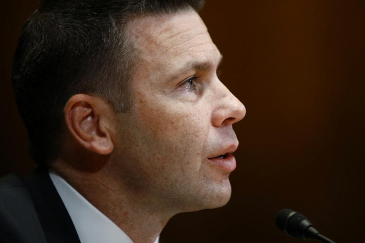 Acting Homeland Security Secretary Kevin McAleenan testifies before a Senate Appropriations subcommittee hearing on President Trump's budget request for Fiscal Year 2020, Thursday, May 2, 2019, on Capitol Hill in Washington. (AP Photo/Patrick Semansky)