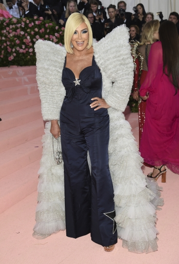"Kris Jenner attends The Metropolitan Museum of Art's Costume Institute benefit gala celebrating the opening of the ""Camp: Notes on Fashion"" exhibition on Monday, May 6, 2019, in New York. (Photo by Evan Agostini/Invision/AP)"