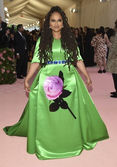 "Ava DuVernay attends The Metropolitan Museum of Art's Costume Institute benefit gala celebrating the opening of the ""Camp: Notes on Fashion"" exhibition on Monday, May 6, 2019, in New York. (Photo by Evan Agostini/Invision/AP)"