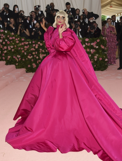 """Lady Gaga attends The Metropolitan Museum of Art's Costume Institute benefit gala celebrating the opening of the """"Camp: Notes on Fashion"""" exhibition on Monday, May 6, 2019, in New York. (Photo by Evan Agostini/Invision/AP)"""