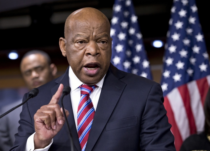 """FILE - In this June 25, 2013 file photo, Rep. John Lewis, D-Ga., appears on Capitol Hill in Washington. CNN Films is developing a documentary on civil rights icon and Georgia congressman John Robert Lewis. The network announced Wednesday, May 8, that """"Gideon's Army"""" director Dawn Porter is helming the project. She began shooting the 79-year-old Lewis last year ahead of the midterm elections. (AP Photo/J. Scott Applewhite, File)"""