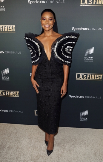 "Gabrielle Union arrives at the LA Premiere of ""L.A.'s Finest"" at the Sunset Tower Hotel on Friday, May 10, 2019, in Los Angeles. (Photo by Willy Sanjuan/Invision/AP)"