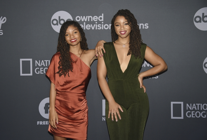 Halle Bailey, left, and Chloe Bailey attend the Walt Disney Television 2019 upfront at Tavern on The Green on Tuesday, May 14, 2019, in New York. (Photo by Evan Agostini/Invision/AP)
