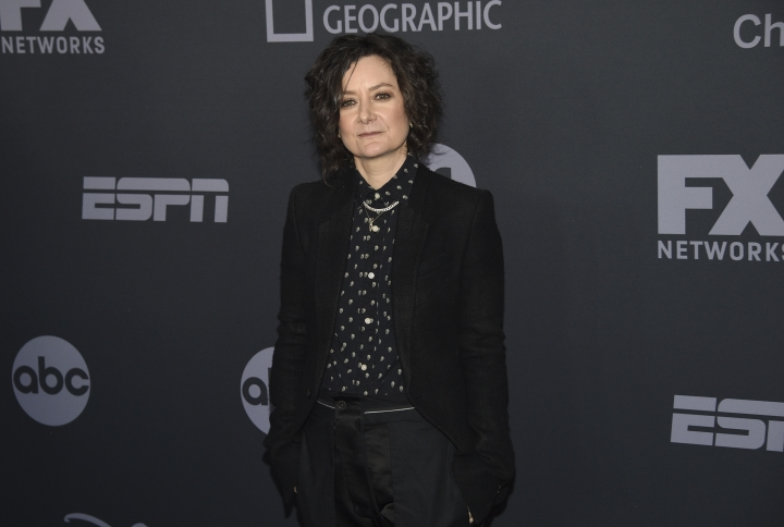Sara Gilbert attends the Walt Disney Television 2019 upfront at Tavern on The Green on Tuesday, May 14, 2019, in New York. (Photo by Evan Agostini/Invision/AP)