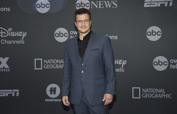 Nathan Fillion attends the Walt Disney Television 2019 upfront at Tavern on The Green on Tuesday, May 14, 2019, in New York. (Photo by Evan Agostini/Invision/AP)