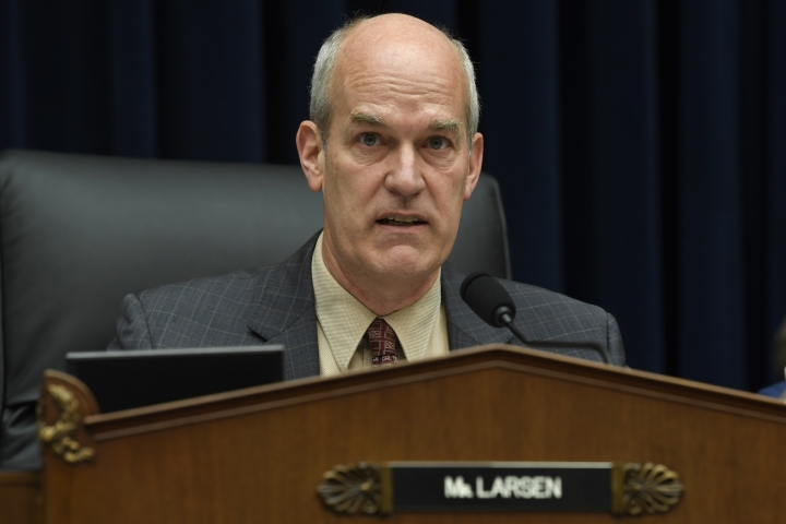 House Transportation Subcommittee Chairman Rep. Rick Larsen, D-W.Va., speaks during a hearing on Capitol Hill in Washington, Wednesday, May 15, 2019, on the status of the Boeing 737 MAX aircraft.(AP Photo/Susan Walsh)