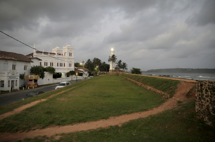 In this Friday, May 10, 2019, photo, the 17th century built Dutch fort, which was a popular tourist site, stands empty in Galle, Sri Lanka. Sri Lanka was the Lonely Planet guide's top travel destination for 2019, but since the Easter Sunday attacks on churches and luxury hotels, foreign tourists have fled. More than 250 people, including 45 foreigners mainly from China, India, the U.S. and the U.K., died in the Islamic State group-claimed blasts. (AP Photo/Eranga Jayawardena)