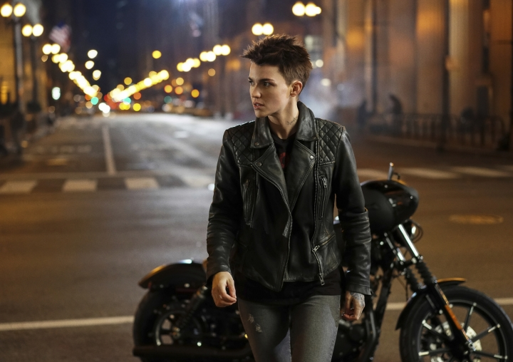 """This image released by The CW shows Ruby Rose as Kate Kane from the upcoming series """"Batwoman,"""" premiering in the fall. (Elizabeth Morris/The CW via AP)"""