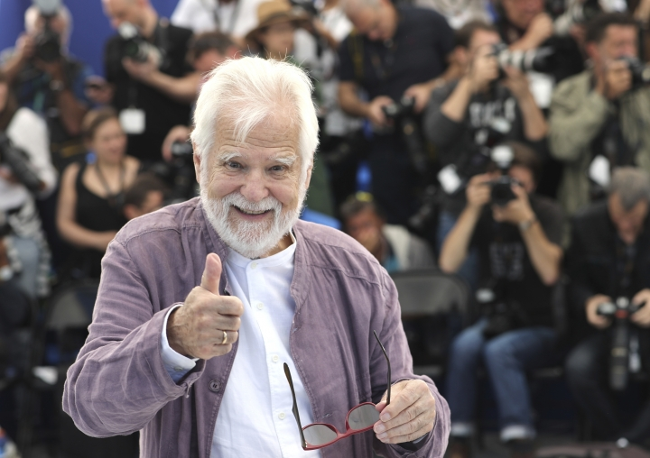 Producer Jan Harlan poses for photographers at the photo call for the film 'The Shining' at the 72nd international film festival, Cannes, southern France, Thursday, May 16, 2019. (AP Photo/Petros Giannakouris)
