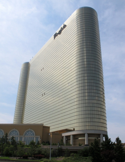 This June 26, 2013 photo shows the exterior of the Borgata Hotel Casino & Spa in Atlantic City N.J. On May 22, 2019, the Borgata announced it will spend $12 million on a new sports betting bar and lounge project. (AP Photo/Wayne Parry)