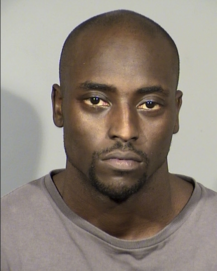 FILE - This undated Clark County Detention Center photo released by the Las Vegas Metropolitan Police Department shows Cierre Wood. Wood, a former NFL player, was arrested April 10, 2019, in Las Vegas and is charged with murder and felony child abuse in the death of La'Rayah Davis, the 5-year-old daughter of his girlfriend, Amy Taylor. Wood was ordered Wednesday, May 22,2019 to stand trial in state court on murder and 19 felony child abuse and neglect charges in the death of his girlfriend's 5-year-old daughter less than two weeks after they moved into his Las Vegas apartment. (Las Vegas Metropolitan Police Department via AP, File)