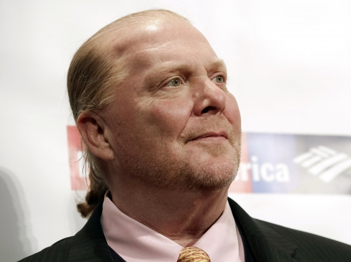 FILE - In this Wednesday, April 19, 2017, file photo, chef Mario Batali attends an awards event in New York. The Suffolk County District Attorney's Office in Boston says Batali is scheduled to be arraigned Friday, May 24, 2019, on a charge of indecent assault and battery, in connection with an allegation that he forcibly kissed and groped a woman at a Boston restaurant in 2017. (Photo by Brent N. Clarke/Invision/AP, File)