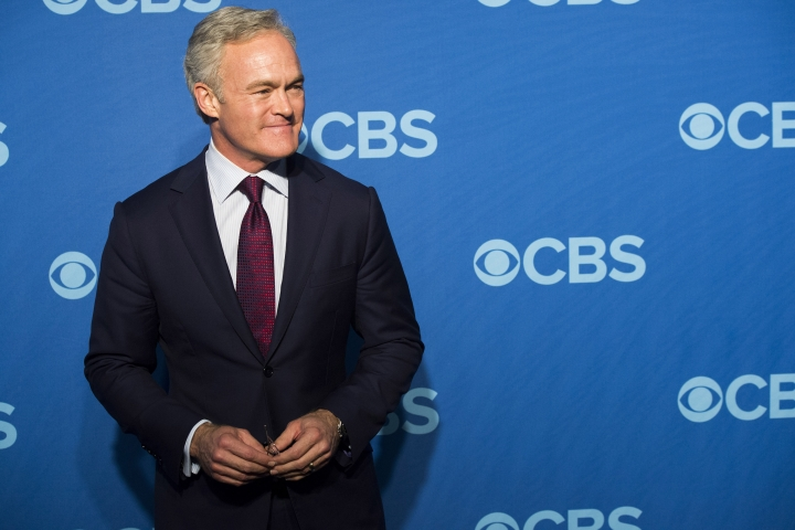 """File-This May 15, 2013, file photo shows Scott Pelley attending the CBS Upfront in New York. The Former """"CBS Evening News"""" anchor says he lost that job because he wouldn't stop complaining to management about the hostile work environment for men and women. The """"60 Minutes"""" correspondent tells CNN's Reliable Sources Sunday that things have changed after 18 months of dramatic management changes amid a slew of scandals and misconduct claims at CBS. (Photo by Charles Sykes/Invision/AP, File)"""