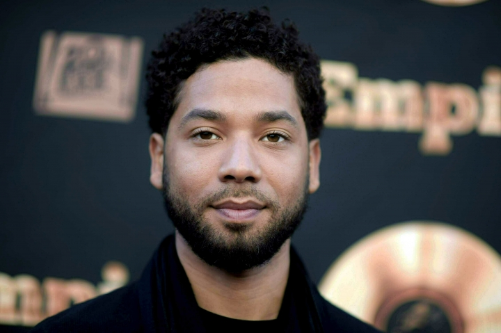 """FILE - In this May 20, 2016 file photo, actor and singer Jussie Smollett attends the """"Empire"""" FYC Event in Los Angeles. The city of Chicago has released two 911 calls made after """"Empire"""" actor Jussie Smollett claimed he was the victim of a racist, homophobic attack. Recordings of the calls following the January 29 incident were obtained by The Associated Press and other outlets Wednesday evening, June 5, 2019. (Richard Shotwell/Invision/AP, File)"""