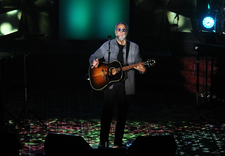 Yusuf Islam performs on stage at the 50th annual Songwriters Hall of Fame induction and awards ceremony Thursday, June 13, 2019, in New York. (Photo by Brad Barket/Invision/AP)