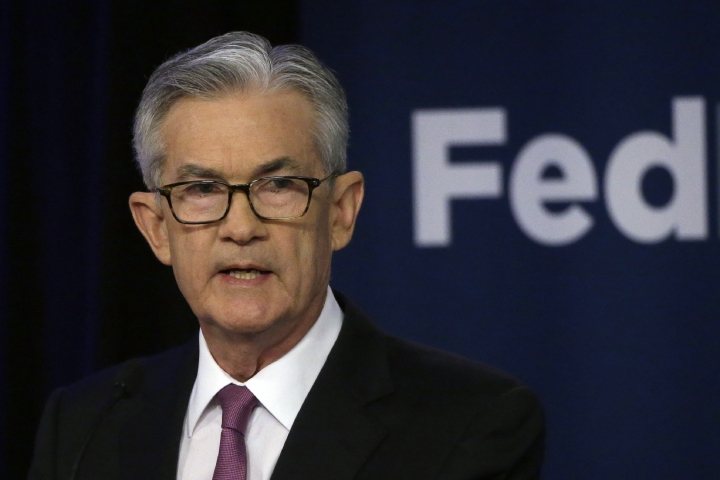 FILE - In this June 4, 2019, file photo Federal Reserve Chairman Jerome Powell speaks at a conference involving its review of its interest-rate policy strategy and communications in Chicago. The slightest hint that the Federal Reserve might lower interest rates often puts investors in a buying mood, stoking their expectations of greater stock market returns. But it doesn't always work that way. (AP Photo/Kiichiro Sato, File)