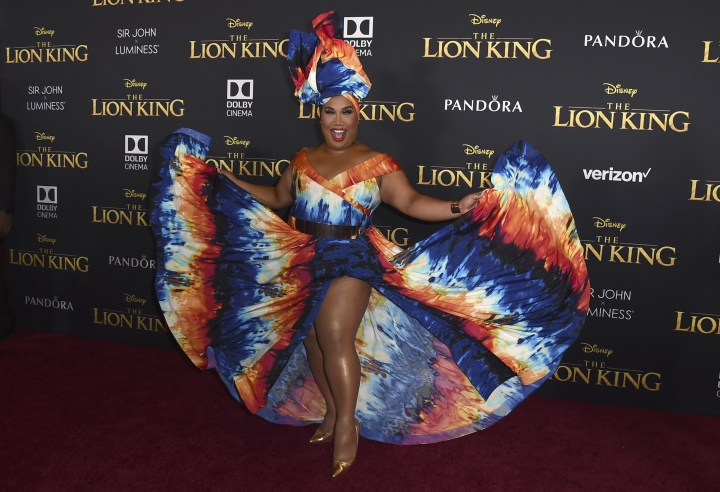 """Patrick Starrr arrives at the world premiere of """"The Lion King"""" on Tuesday, July 9, 2019, at the Dolby Theatre in Los Angeles. (Photo by Jordan Strauss/Invision/AP)"""