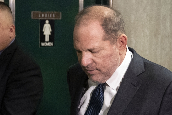 "Former movie mogul Harvey Weinstein arrives at State Supreme Court for a hearing related to his sexual assault case, Thursday, July 11, 2019, in New York. Weinstein's lawyer Jose Baez is going to court Thursday to get a judge's permission to leave the case, the latest defection from what was once seen as a modern version of O.J. Simpson's ""dream team"" of attorneys. (AP Photo/Richard Drew)"