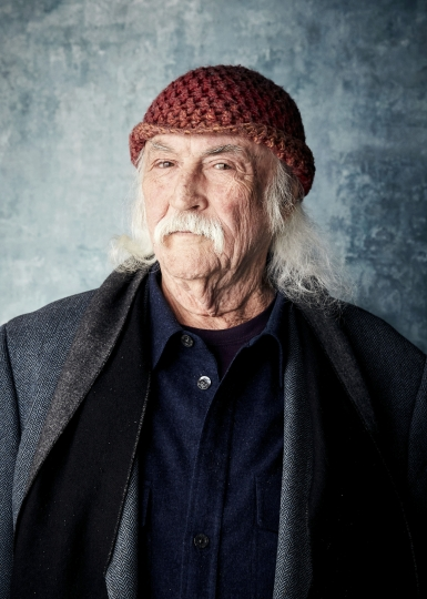 "FILE - In this Jan. 26, 2019 file photo, David Crosby poses for a portrait to promote the film ""David Crosby: Remember My Name"" at the Salesforce Music Lodge during the Sundance Film Festival in Park City, Utah. Crosby offers candid reflections on his career, relationships and feuds with others in the new documentary, which will be in limited release on Friday, July 19, 2019, and expand to additional theaters in the coming weeks. (Photo by Taylor Jewell/Invision/AP, File)"
